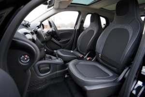 New car interior with black trim